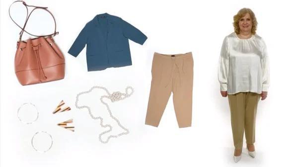 Бесформенная блузка и мешковатые брюки