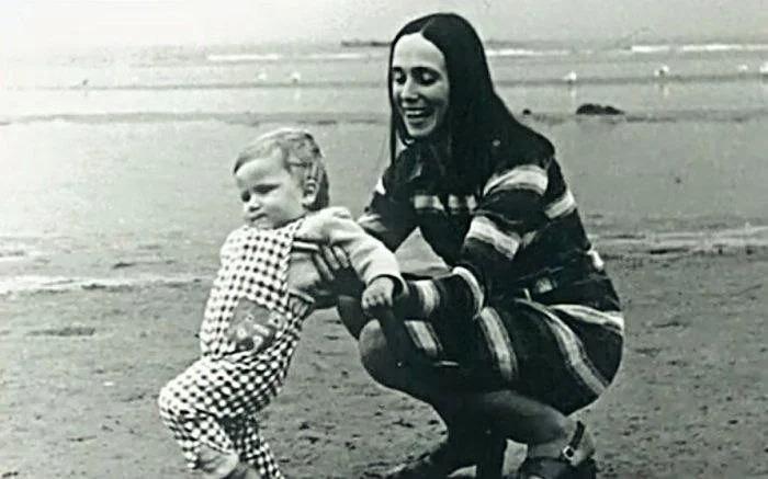 Жена Татьяна с маленьким Егором