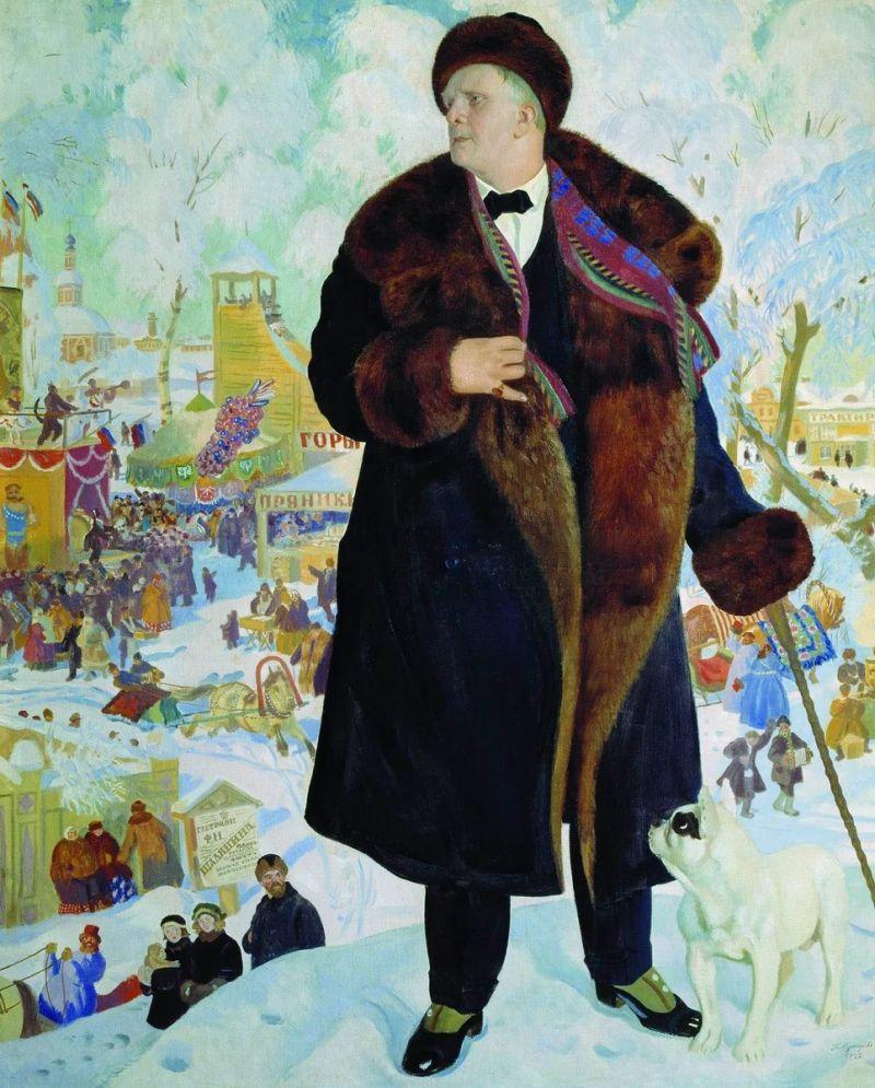 "Б.Кустодиев ""Портрет Шаляпина""."