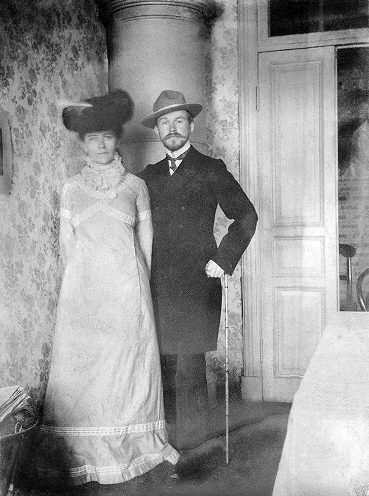 Борис Кустодиев с супругой Юлией Прошинской.