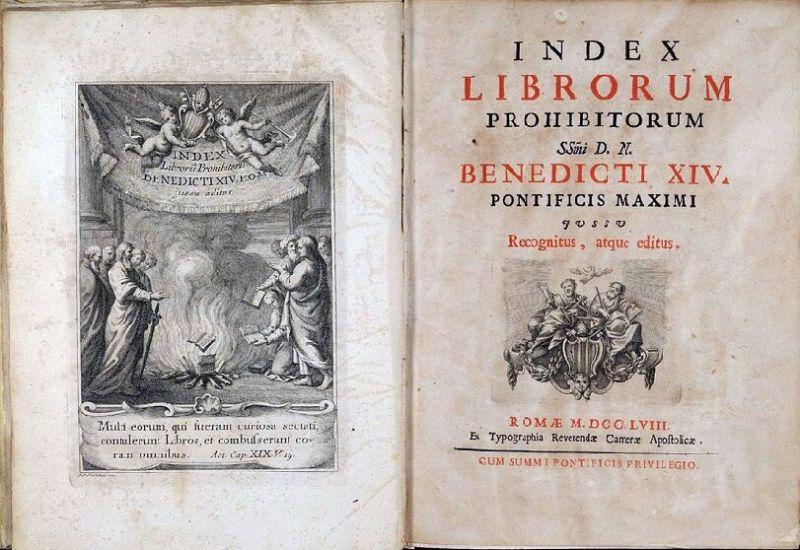 """""""Индекс запрещенных книг"""" Ватикана. Отменен только в 1966 году"""