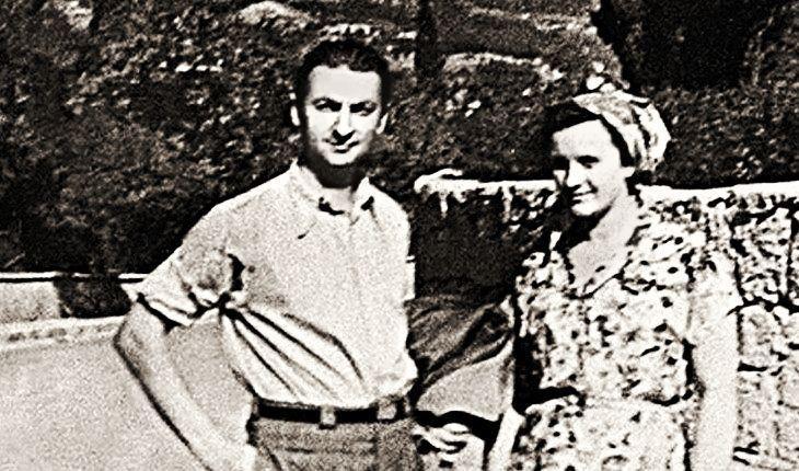 Г. Вицин с женой Тамарой
